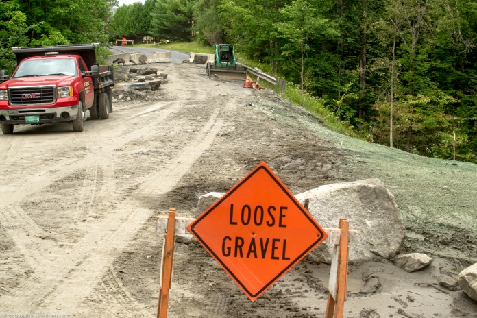 loose gravel culvert after