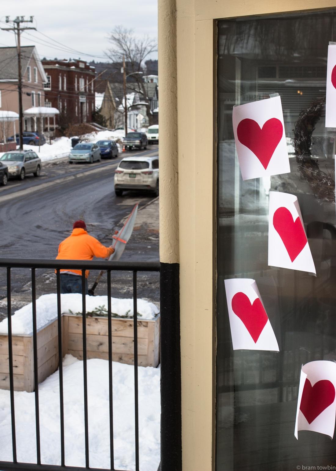 orange jacket hearts